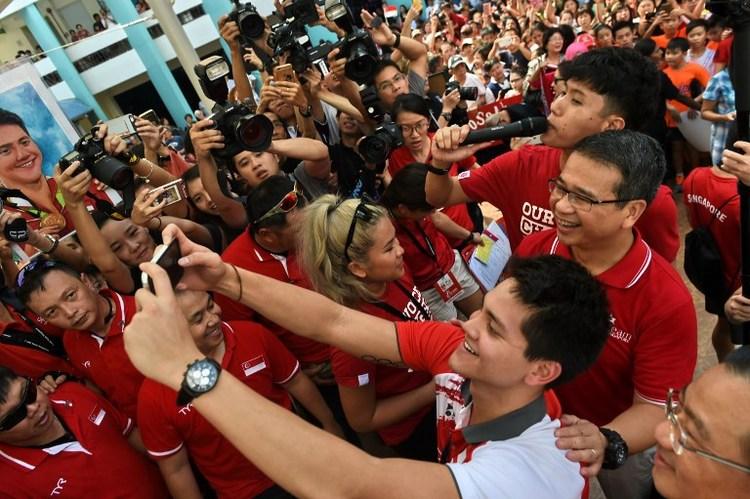 斯庫林新加坡勝利遊街 瞄準2020東京奧運
