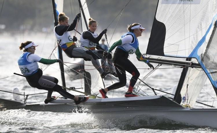 女子雙人帆船  巴西姐妹淘奪金