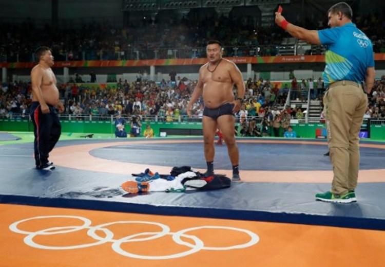 蒙古教練奧運脫衣褲 抗議判決不公