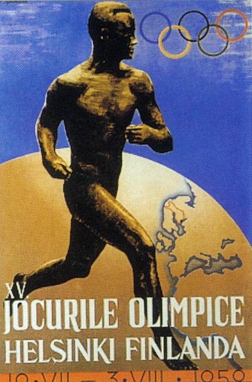 1952第十五屆赫爾辛基奧運會 Helsinki (芬蘭 赫爾辛基):「兩個中國」問題浮現 台灣最後退出奧運競賽