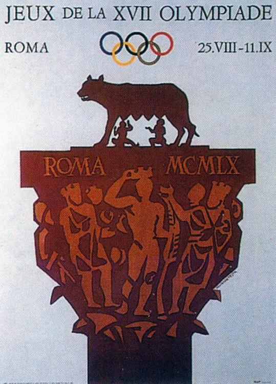 1960年第十七屆羅馬奧運 Rome (義大利 羅馬):首位奧運奪牌台灣人 亞洲鐵人楊傳廣