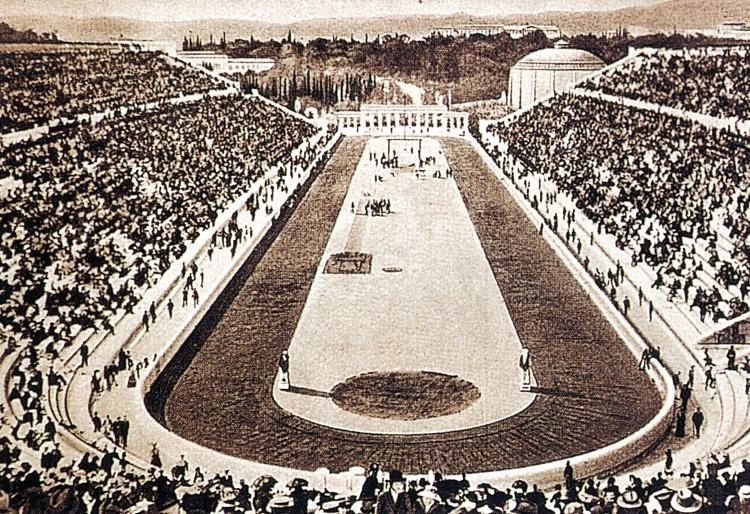 1896年第一屆雅典奧運 Athens (希臘 雅典):沒有金牌 女性選手不能參賽