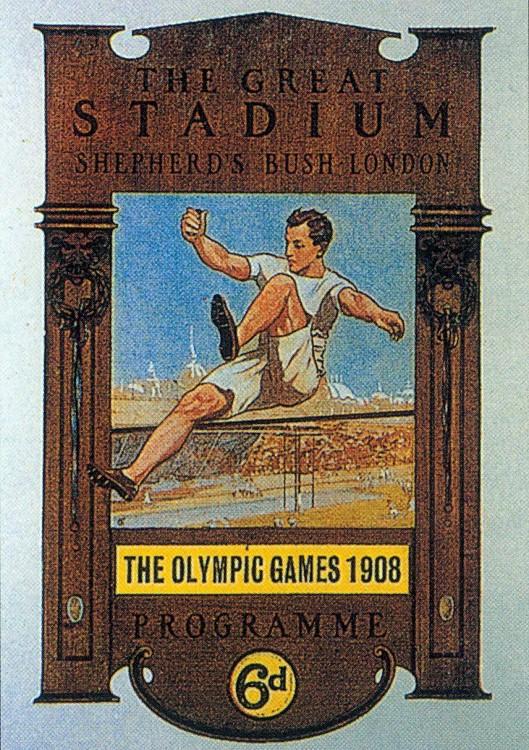 1908年第四屆倫敦奧運 London (英國 倫敦):史上耗時最長奧運會 五大洲國家參與 國際化發展