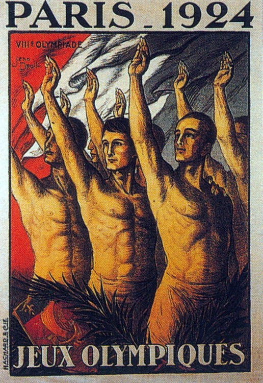 1924年第八屆巴黎奧運會 Paris (法國 巴黎):設立奧運會旗與選手村制度