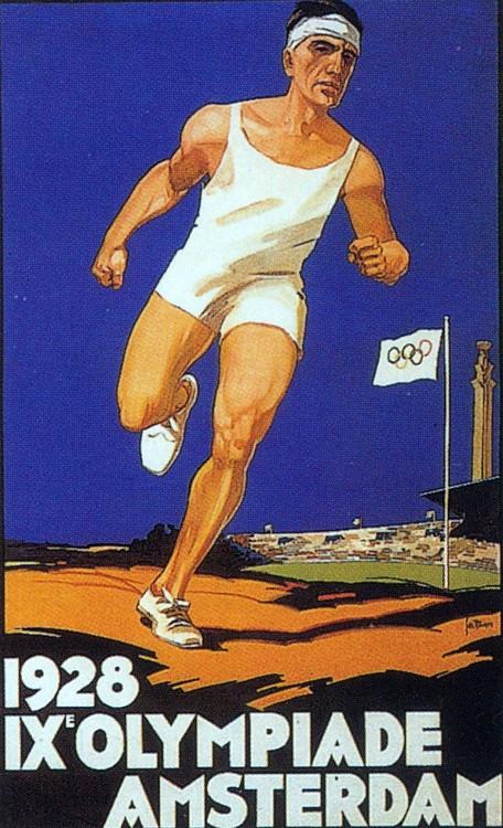 1928年第九屆阿姆斯特丹奧運會 Amsterdam (荷蘭 阿姆斯特丹):開放女子選手全面參賽 聖火台首次出現奧運競技場