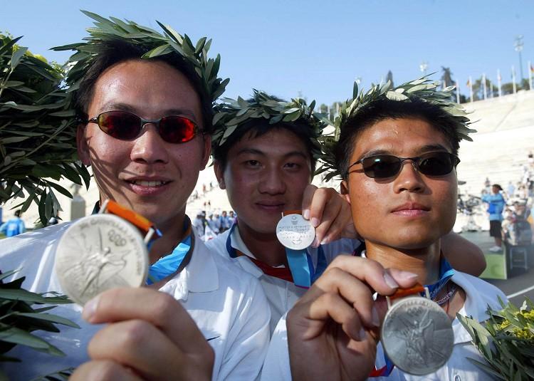 陳詩園王正邦劉明煌雅典奧運男子團體奪銀 創歷屆奧運射箭最佳成績