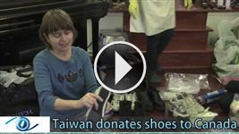 Taiwanese community donates shoes to Canada