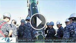 Taiwan: US arms sales help maintain peace