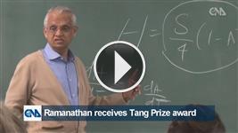 Ramanathan receives Tang Prize award