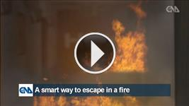 A smart way to escape in a fire