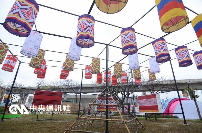 Taiwan Lantern Festival during the day