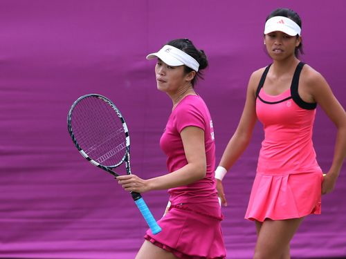 Hsieh Su-wei (right) and Chuang Chia-jung at the 2012 London Games.