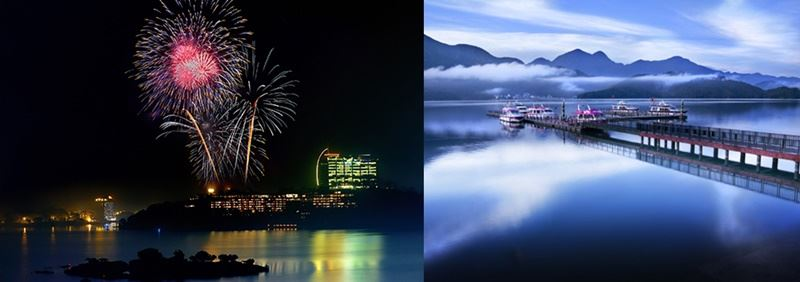 Sun Moon Lake and its fireworks display/image taken from Tourism Bureau website (www.taiwan.net.tw)