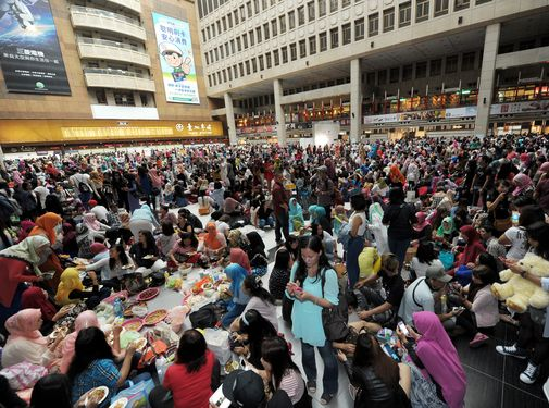 Muslims celebrate end of Ramadan in Taipei