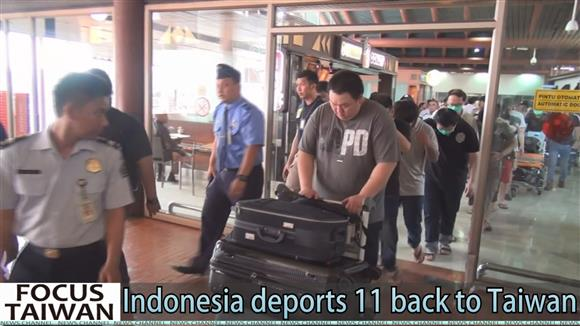 Indonesia deports 11 back to Taiwan, not China