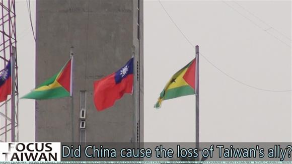 Did China cause the loss of Taiwan's ally?