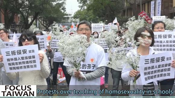 Protests over teaching of homosexuality in schools