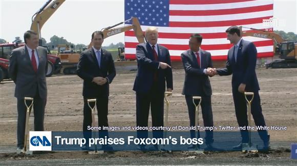 Trump praises Foxconn's boss