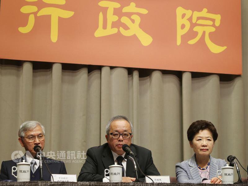 中國大陸提出31條惠台措施,行政院副院長施俊吉(中)擬14日邀各部會開會討論因應措施。(中央社檔案照片)
