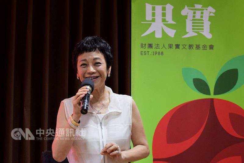 果實基金會成立30週年,創辦人張艾嘉13日在台北國際藝術村出席藝術教育系列活動宣告記者會,張艾嘉表示,希望能讓孩子們快樂學習,也讓他們從中找到自己的天賦和潛力。中央社實習記者林慧詩攝 107年7月13日