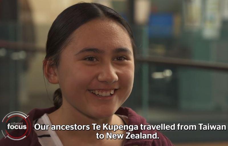 11歲的枇奇科圖庫•韓密爾頓是紐西蘭土生土長的毛利人,她8月和另外9名學生將親身走訪「先祖之地」台灣。(圖取自紐西蘭前鋒報網頁www.nzherald.co.nz)