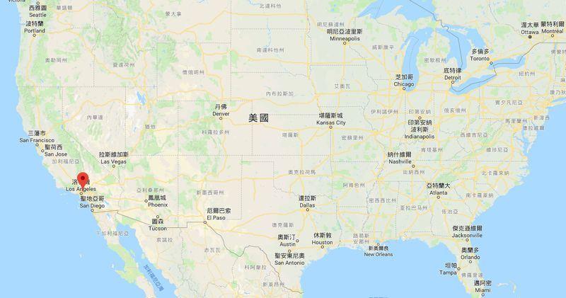 花蓮縣長傅崐萁將在8月25日率團抵洛杉磯,與天普市政府簽署合作意向備忘錄。圖為天普市位置。(圖取自Google地圖網頁www.google.com.tw/maps)