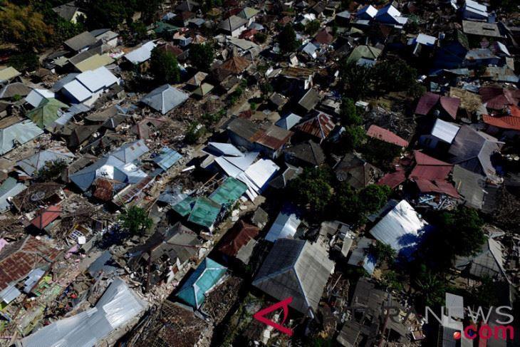 印尼旅遊勝地龍目島9日再度發生強震,規模6.2,造成部分建築物倒塌。(檔案照片/安塔拉通訊社提供)