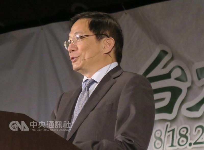 台大教授管中閔在矽谷表示,不會退出台大校長遴選,將與台大同進退。中央社記者張克怡舊金山攝 107年8月19日