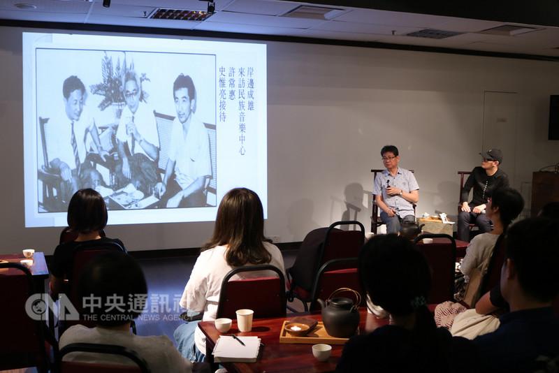 駐馬來西亞台北經濟文化辦事處主辦的「Tea Philo哲學茶席」系列講座,8月17日由台灣國立傳統藝術中心主任吳榮順分享台灣民族音樂學。(駐馬辦事處提供)中央社記者郭朝河吉隆坡傳真 107年8月20日