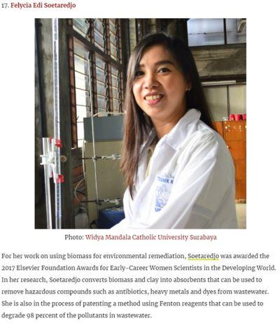 台科大印尼籍校友  獲選亞洲傑出科學家