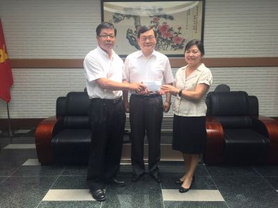 协助越南台校改建 杨吉村捐款兴学