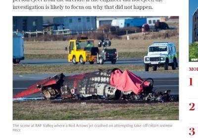 英特技噴射機失事 飛行員傷工程師罹難