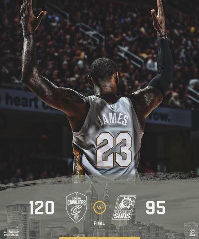 NBA騎士射下太陽 詹姆斯砍27分