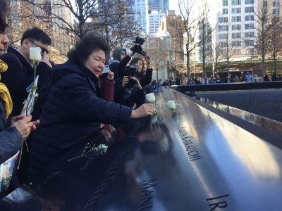 陳菊訪911紀念館 向台籍罹難者獻花致意