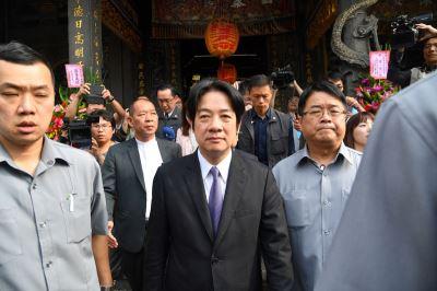 保安宮參拜是否為選台北市 賴清德:參加文化祭