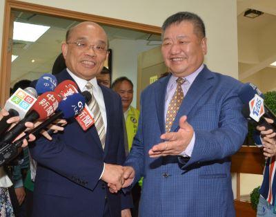 訪新北議會 蘇貞昌:選戰開始了