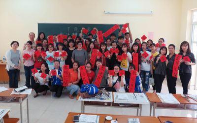 越南大學書法活動 推廣台灣教育與文化