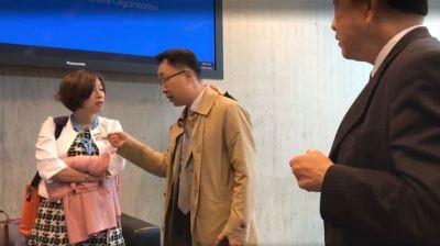 立委赴世界衛生大會旁聽 遭中國人士抗議
