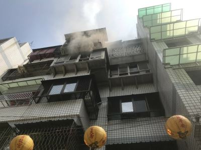 中市公寓起火  男子二度燒燙傷