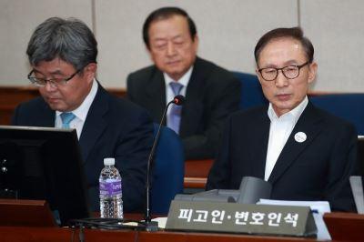 南韓前總統李明博涉賄案  首次庭審
