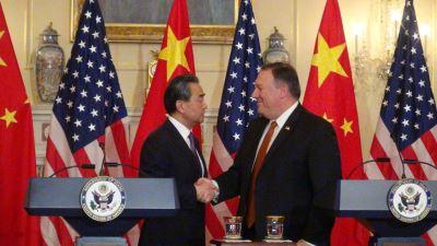 美中外长会晤  蓬佩奥:一中政策未变