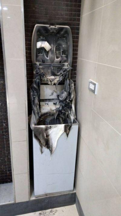 桃機廁所遭祝融  竟是機場保全縱火