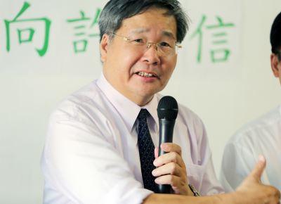 許忠信宣布參選台南市長 絕不退選