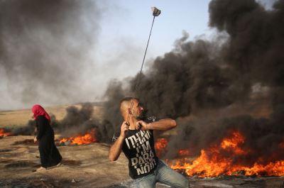 加薩再爆衝突 以軍射傷數十巴勒斯坦人
