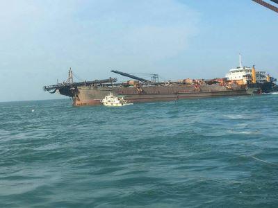 擱淺金門近2個月 陸籍貨船遠泰789拖離