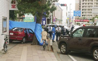 日9旬嬤駕車撞行人1死3傷 事故原因待查