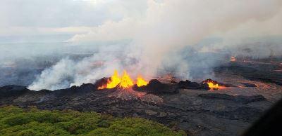 夏威夷火山熔岩流竄  覆蓋電廠地熱井