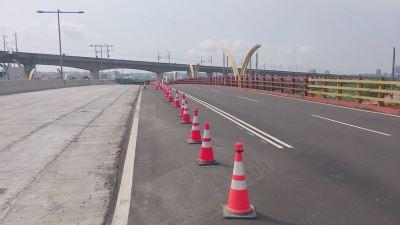 中市知高橋往工業區車道  5/29開放通行