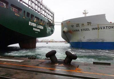 中鋼船撞凹長榮貨櫃輪 後續保險公司處理
