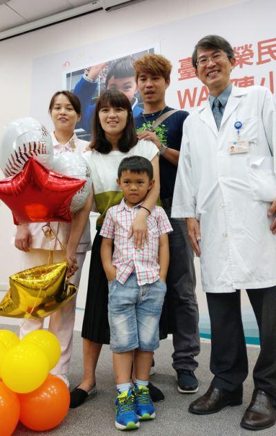 男童罹免疫缺陷疾病 移植臍帶血現生機